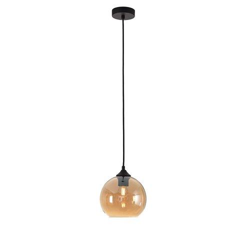 LioLights Hanglamp MARINO amber glas 20cm