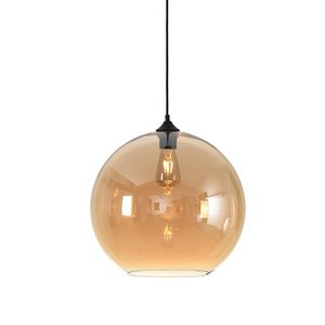 LioLights Pendant light MARINO amber glass 40cm