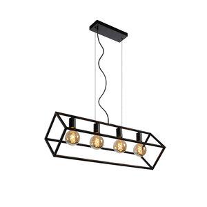 FABIAN - Hanglamp - 4xE27 - Zwart - 00425/04/30