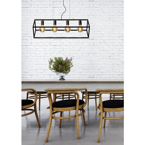 FABIAN - Hanging lamp - 4xE27 - Black - 00425/04/30