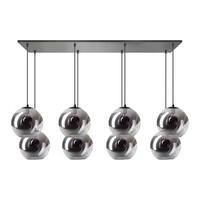 Hanging lamp Orb - 8 lights - black - 05-HL4271-3036