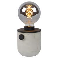 TANNER - Tafellamp - Ø 10 cm - 1xE27 - Zwart - 39521/01/30