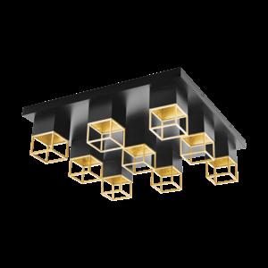 EGLO MONTEBALDO LED Ceiling Lamp GU10 black/gold 97732