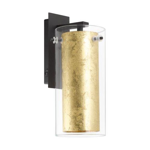 EGLO PINTO GOLD Wandlamp E27 zwart/goud 97839