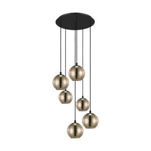 EGLO LEMORIETA Hanging lamp E27 black / gold 39687