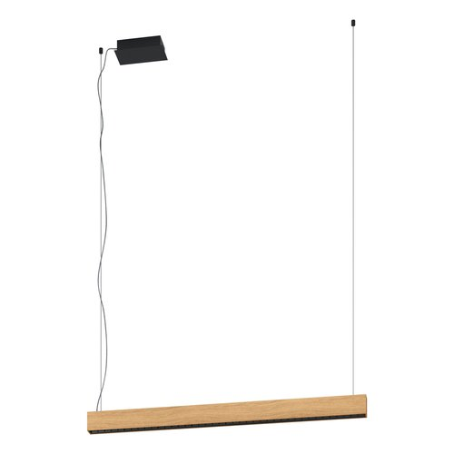 EGLO TERMINI 1 Pendant lamp LED black / wood 39718