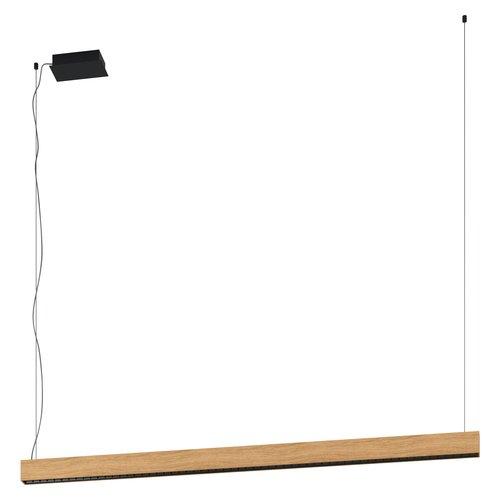 EGLO TERMINI 1 Hanging lamp LED black / wood 39719