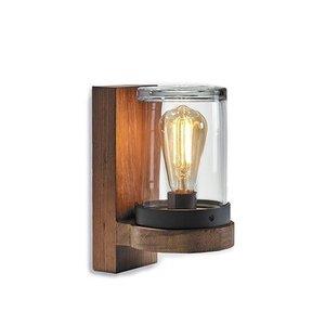 Royal Botania Cloche wandlamp Teak - Glas
