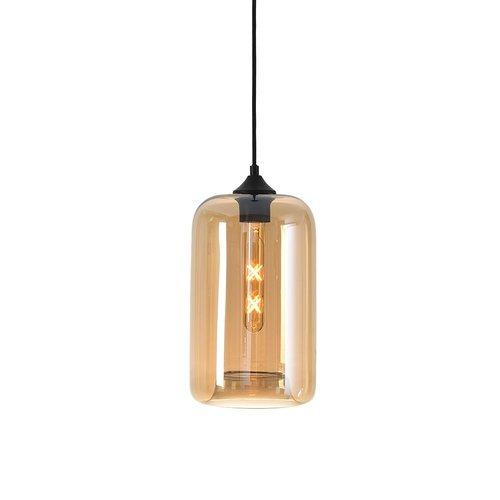 LioLights Hanging lamp BOTANY Amber Glass