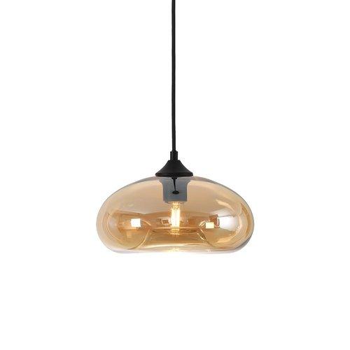 LioLights Hanging lamp PARADISE - Amber Glass