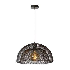 Lucide MESH - Hanglamp - Ø 46 cm - 1xE27 - Zwart - 78387/01/30
