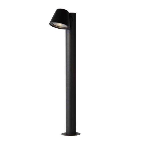 Lucide DINGO-LED - Sokkellamp Buiten - Ø 11,5 cm - LED Dimb. - GU10 - 1x4,5W 3000K - IP44 - Antraciet - 14881/70/30