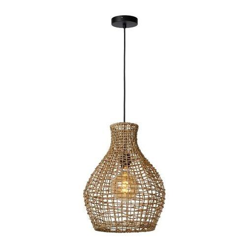 Lucide ALBAN - Hanglamp - Ø 35 cm - 1xE27 - Licht hout