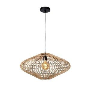 Lucide MAGALI - Hanglamp - Ø 56 cm - 1xE27 - Licht hout