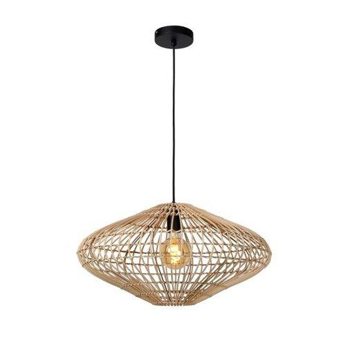 Lucide MAGALI - Hanging lamp - Ø 56 cm - 1xE27 - Light wood