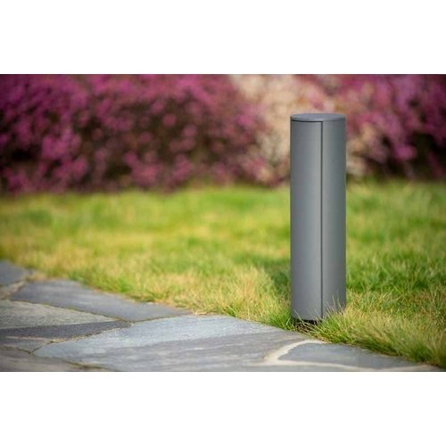 Lucide POWERPOINT - Outdoor socket column - Ø 10 cm - IP44 - Anthracite - 27849/02/29