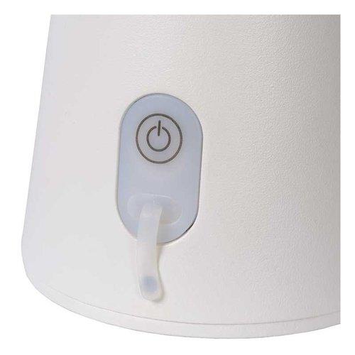 Lucide LA DONNA - Tafellamp Buiten - Ø 19,7 cm - LED Dimb. - 1x2W 2700K - IP54 - 3 StepDim - Wit - 27500/02/31