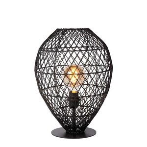 Lucide KENJIRO - Tafellamp - Ø 40 cm - 1xE27 - Zwart - 03539/01/30