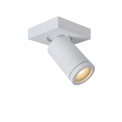 Lucide TAYLOR - Plafondspot Badkamer - LED Dim to warm - GU10 - 1x5W 2200K/3000K - IP44 - Wit - 09930/05/31