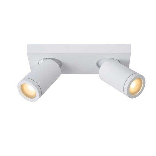 Lucide TAYLOR - Plafondspot Badkamer - LED Dim to warm - GU10 - 2x5W 2200K/3000K - IP44 - Wit - 09930/10/31