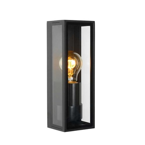 Lucide DUKAN - Wandlamp Buiten - 1xE27 - IP65 - Zwart - 15802/01/30