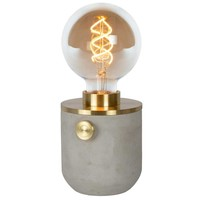TANNER - Tafellamp - Ø 10 cm - 1xE27 - Mat Goud / Messing - 39521/01/02