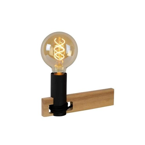 Lucide TANNER - Tafellamp - 1xE27 - Licht hout - 39520/01/76