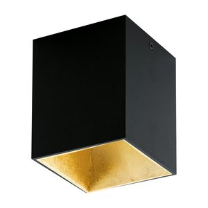 EGLO LED surface-mounted spot Polasso Black/Gold