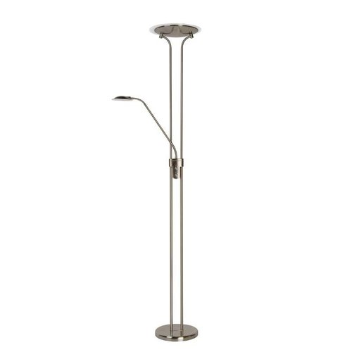 Lucide CHAMPION-LED - Leeslamp - Ø 25,4 cm - LED Dimb. - 3000K - Mat chroom - 19792/24/12