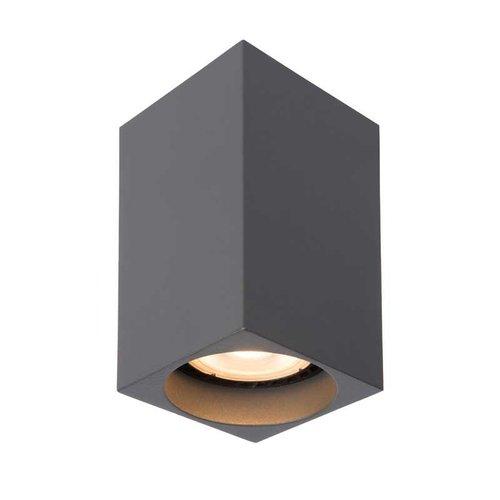 Lucide DELTO - Plafondspot - LED Dim to warm - GU10 - 1x5W 2200K/3000K - Grijs - 09916/06/36