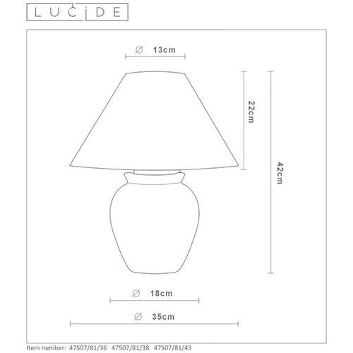 Lucide RAMZI - Tafellamp - Ø 35 cm - 1xE27 - Bruin - 47507/81/43