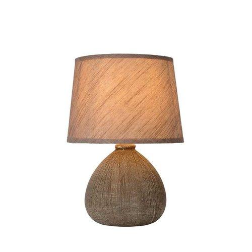 Lucide RAMZI - Tafellamp - Ø 18 cm - 1xE14 - Bruin - 47506/81/43
