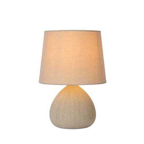 Lucide RAMZI - Tafellamp - Ø 18 cm - 1xE14 - Beige - 47506/81/38