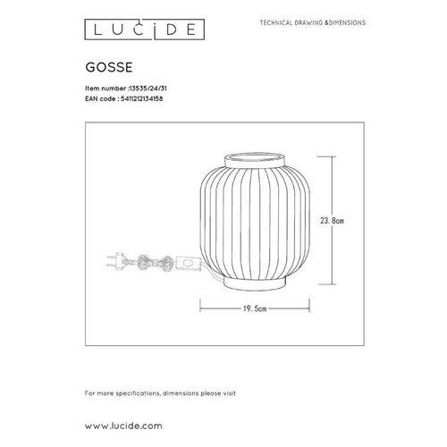 Lucide GOSSE - Tafellamp - Ø 19,5 cm - 1xE14 - Wit - 13535/24/31
