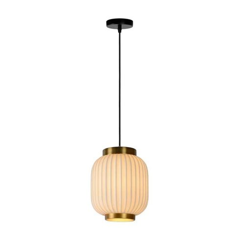 Lucide GOSSE - Hanglamp - Ø 19,5 cm - 1xE27 - Wit - 13435/01/31