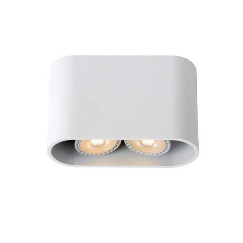 Lucide BENTOO-LED - Plafondspot - LED Dimb. - GU10 - 2x5W 3000K - Wit - 09914/10/31