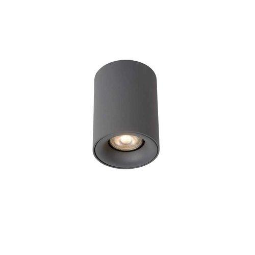 Lucide BENTOO-LED - Plafondspot - Ø 8 cm - LED Dimb. - GU10 - 1x5W 3000K - Grijs - 09912/05/36