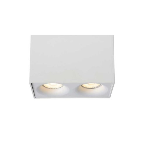 Lucide BENTOO-LED - Plafondspot - LED Dimb. - GU10 - 2x5W 3000K - Wit - 09913/10/31