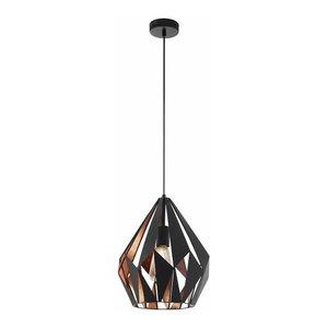 EGLO Hanging lamp Carlton Black 49254