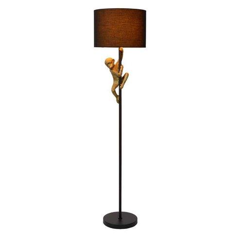 Lucide EXTRAVAGANZA CHIMP - Vloerlamp - Ø 35 cm - 1xE27 - Zwart - 10702/81/30