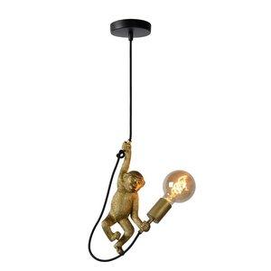 Lucide EXTRAVAGANZA CHIMP - Hanging lamp - Ø 18 cm - 1xE27 - Black - 10402/01/30
