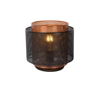 Lucide ORRIN - Table lamp - Ø 25 cm - 1xE27 - Black - 02504/01/30