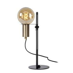 Lucide MALCOLM - Table lamp - Ø 23 cm - 1xE27 - Black - 45578/01/30