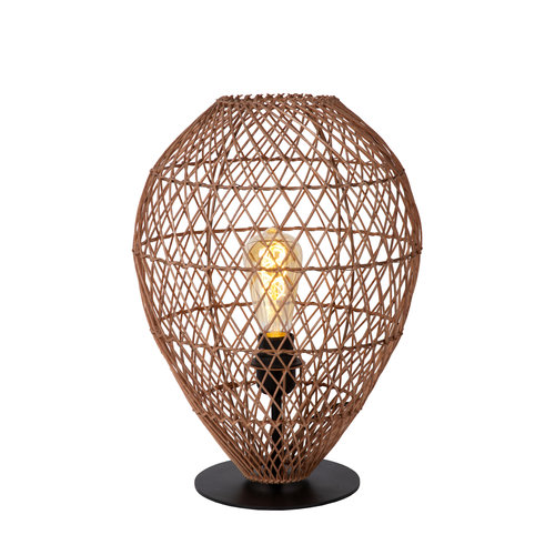 Lucide KENJIRO - Tafellamp - Ø 40 cm - 1xE27 - Okergeel - 03539/01/44