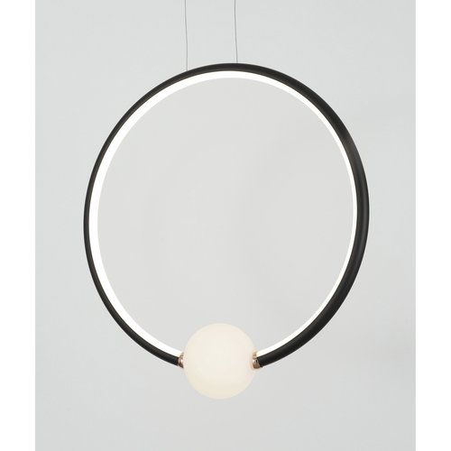 Nova Luce LED hanglamp CELIA zwart 43 x 10 x 120 cm