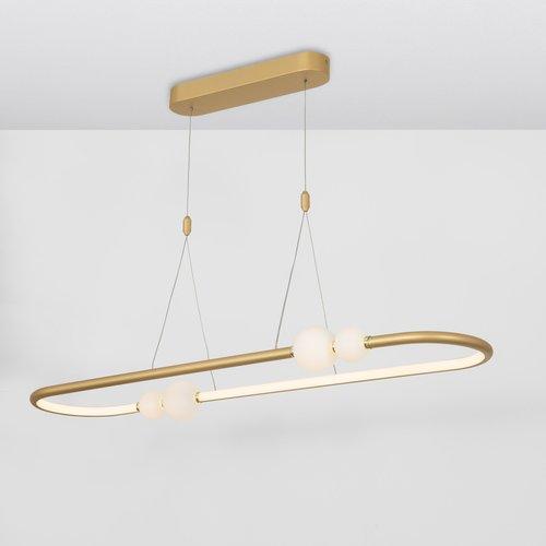 Nova Luce LED hanglamp CELIA goud 100 x 64 x 120 cm