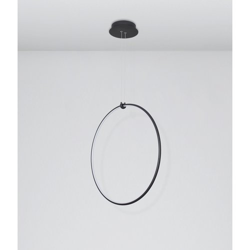 Nova Luce LED hanglamp RING zwart 68 x 21 x 120 cm