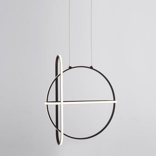 Nova Luce LED hanglamp ARTE zwart 52 x 16 x 120 cm