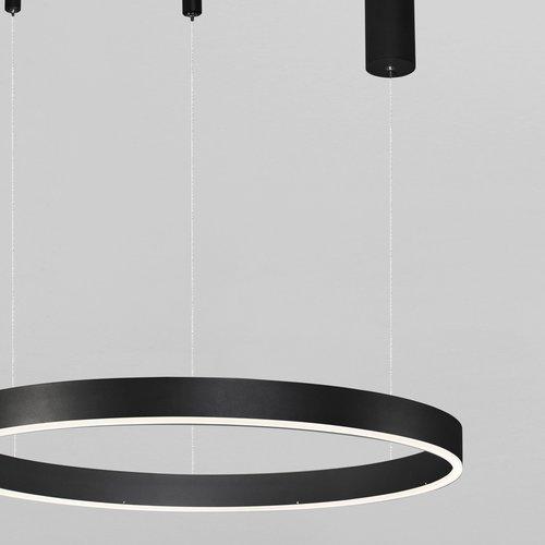 Nova Luce LED hanglamp MOTIF zwart Ø 60 x 120 cm
