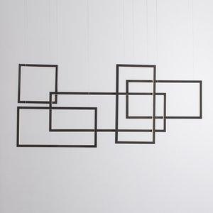 Nova Luce LED hanglamp CORNICE zwart 120 x 160 cm